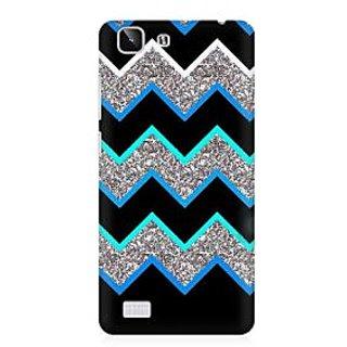 RAYITE Dark Chevron Glitter Print Premium Printed Mobile Back Case Cover For Vivo X5