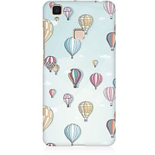 RAYITE Balloon Pattern Premium Printed Mobile Back Case Cover For Vivo V3 Max