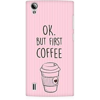 RAYITE Coffee First Premium Printed Mobile Back Case Cover For Vivo Y15