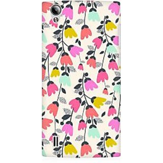 RAYITE Floral Jingle Pattern Premium Printed Mobile Back Case Cover For Vivo Y15