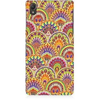 RAYITE Glow Mandala Pattern Premium Printed Mobile Back Case Cover For Sony Xperia Z5