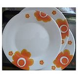 Tupperware Floral Dessert Plates (set Of 4)