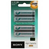 Sony NH-AA-B4EN 2500 MAh 4Pcs Rechargeable Ni-MH Battery