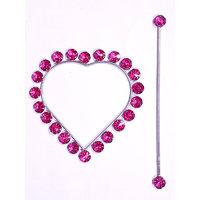 Homesazawat Beautiful Crystal Stone Heart Shape Curtain Lock(set Of 2) - Pink