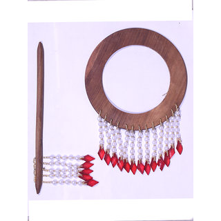 HomeSsazawat Beautiful Round Shape Curtain Wooden Lock (set Of 2 ) Red Beads