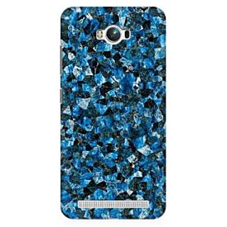 RAYITE Blue Marble Granite Premium Printed Mobile Back Case Cover For Asus Zenfone Max