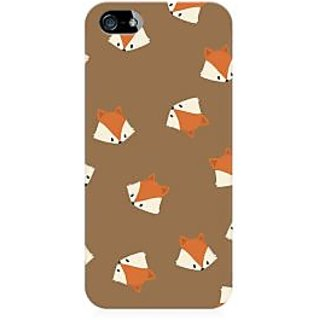 RAYITE Fox Head Pattern Premium Printed Mobile Back Case Cover For Apple IPhone 5/5s/SE