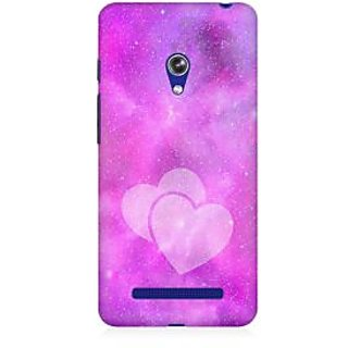 RAYITE Galaxy Heart Premium Printed Mobile Back Case Cover For Asus Zenfone Go