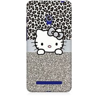 RAYITE Cute Kitty Premium Printed Mobile Back Case Cover For Asus Zenfone Go