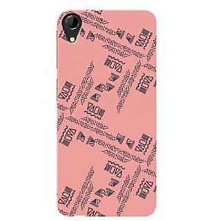 HACHI Premium Printed Cool Case Mobile Cover For HTC Desire 728