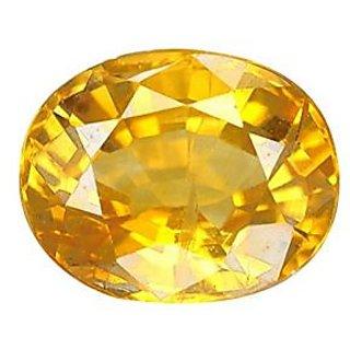 Jaipur Gemstone 8.50 ratti yellow sapphire(pukhraj)