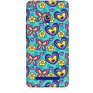 RAYITE Butterfly Heart Pattern Premium Printed Mobile Back Case Cover For Asus Zenfone 5