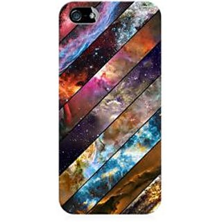 RAYITE Galaxy Wood Pattern Premium Printed Mobile Back Case Cover For Apple IPhone 5/5s/SE