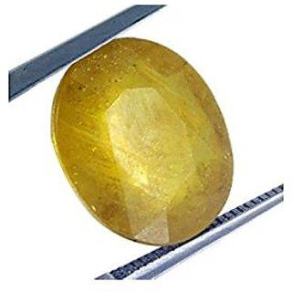 Jaipur Gemstone 5.44 carat yellow sapphire(pukhraj)