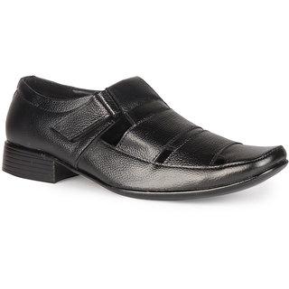 Leather King Men Formal Shoe Baker Black