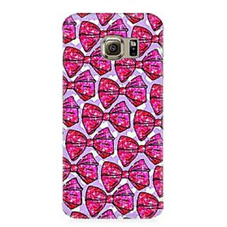 RAYITE Glitter Printy Bow Premium Printed Mobile Back Case Cover For Samsung S7