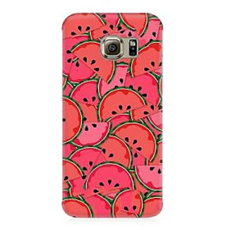 RAYITE Watermelon Abstract Premium Printed Mobile Back Case Cover For Samsung S6 Edge G9250
