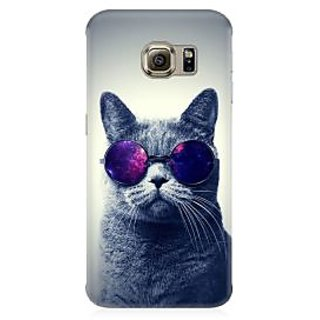 RAYITE Cool Cat Premium Printed Mobile Back Case Cover For Samsung S6 Edge G9250