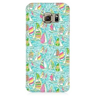 RAYITE Yatch Pattern Premium Printed Mobile Back Case Cover For Samsung S6