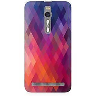 RAYITE Colourful Aztec Premium Printed Mobile Back Case Cover For Asus Zenfone 2
