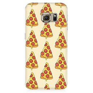 RAYITE Pizza Pattern Premium Printed Mobile Back Case Cover For Samsung S7 Edge