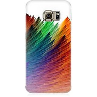 RAYITE Colourful Premium Printed Mobile Back Case Cover For Samsung S6 Edge G9250