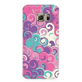 RAYITE Colourful Waves Premium Printed Mobile Back Case Cover For Samsung S6 Edge G9250