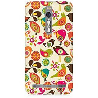 RAYITE Birds Pattern Premium Printed Mobile Back Case Cover For Asus Zenfone 2