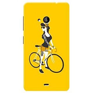 HACHI Premium Printed Cool Case Mobile Cover For Microsoft Lumia 535