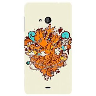 HACHI Premium Printed Cool Case Mobile Cover For Microsoft Lumia 535
