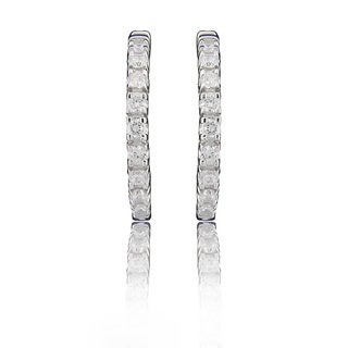 d58126abd44 Simple Hooks Style Earrings On Sterling Silver With Sparkling White Cz  Prices in India- Shopclues- Online Shopping Store