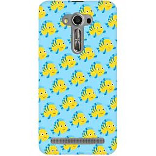 RAYITE Fish Pattern Premium Printed Mobile Back Case Cover For Asus Zenfone 2 Laser ZE500ML