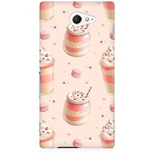 RAYITE Pink Ice Cream Premium Printed Mobile Back Case Cover For Sony Xperia M2 S50h