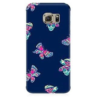 RAYITE Butterfly Pattern Premium Printed Mobile Back Case Cover For Samsung S7 Edge