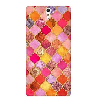 RAYITE Colourful Indian Pattern  Premium Printed Mobile Back Case Cover For Sony Xperia C5
