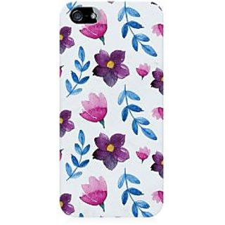 RAYITE Watercolor Leaf And Flower Premium Printed Mobile Back Case Cover For Apple IPhone 5/5s/SE