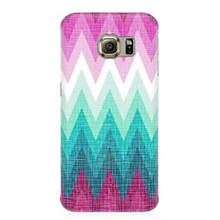 RAYITE Colourful Chevron Premium Printed Mobile Back Case Cover For Samsung S7