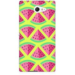RAYITE 3D Watermelon Pattern Premium Printed Mobile Back Case Cover For Sony Xperia M2 S50h