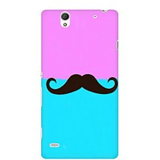 RAYITE Mustache Premium Printed Mobile Back Case Cover For Sony Xperia C4