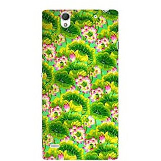 RAYITE Tropical Floral Premium Printed Mobile Back Case Cover For Sony Xperia C4