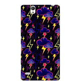 RAYITE Cloud And Thunderstorme Premium Printed Mobile Back Case Cover For Sony Xperia C4