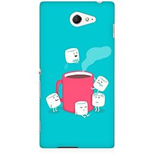 RAYITE Sugar Cube Coffee Premium Printed Mobile Back Case Cover For Sony Xperia M2 S50h
