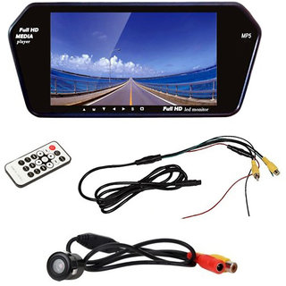 RWT 7 Inch Car Video Monitor With Rear View Night Vision Camera For Hyundai I20 Elite