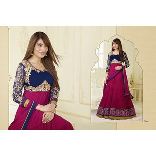 abae1f10783 Amyra Creations Pure Georgette Blue   Purple Designer Salwar Kameez Suit at  Best Prices - Shopclues Online Shopping Store