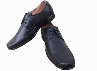 Port Men's Black Axonza Lace up Office Wear Formal Shoes