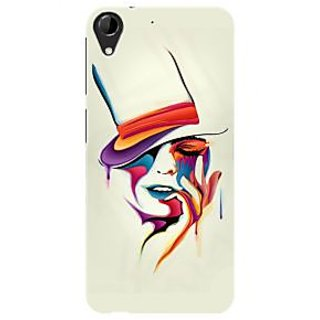 HACHI Premium Printed Cool Case Mobile Cover For HTC Desire 728