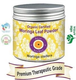 Deve Herbes Organic Certified Moringa Leaf Powder 200gm - Moringa oleifera