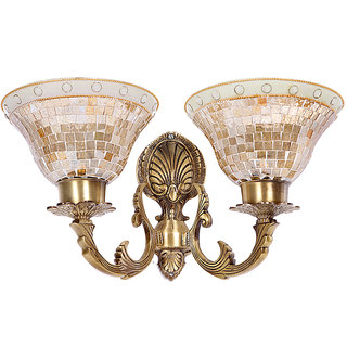 Fos Lighting Meenakshi Golden Katora Double Wall Light