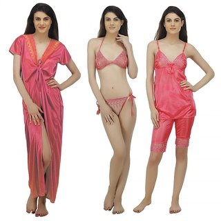 42718e88ef Buy Arlopa 5 Pieces Nightwear Set in Satin Online - Get 63% Off