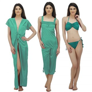 d753367e78 Buy Arlopa 5 Pieces Nightwear Set in Satin Online - Get 68% Off